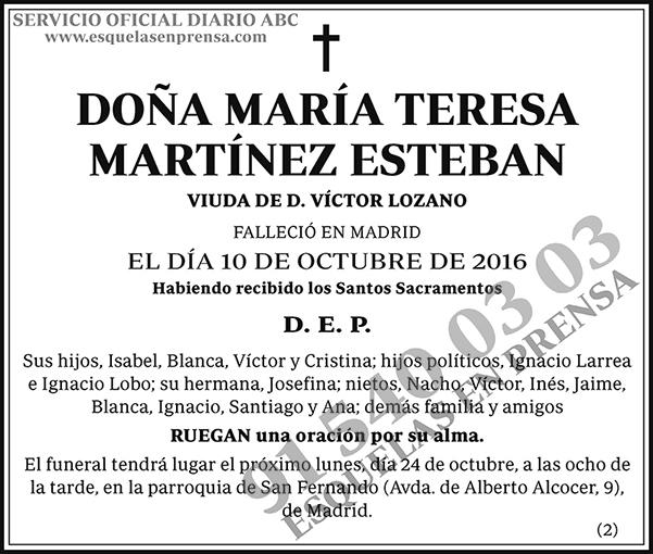 María Teresa Martínez Esteban
